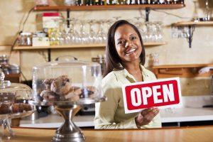 Woman working in restaurant
