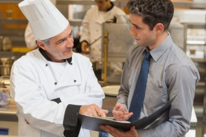 chef and sales rep